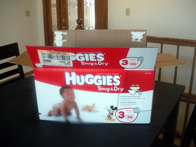 Mod Podged Diaper Box