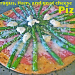 Asparagus Ham Goat Cheese Pizza