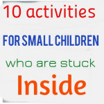 Indoor winter activities for small children
