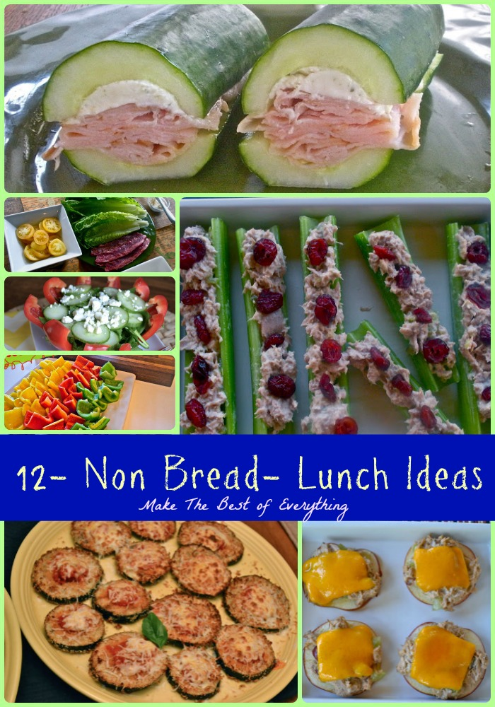 14 Non-Bread lunch and Sandwich ideas