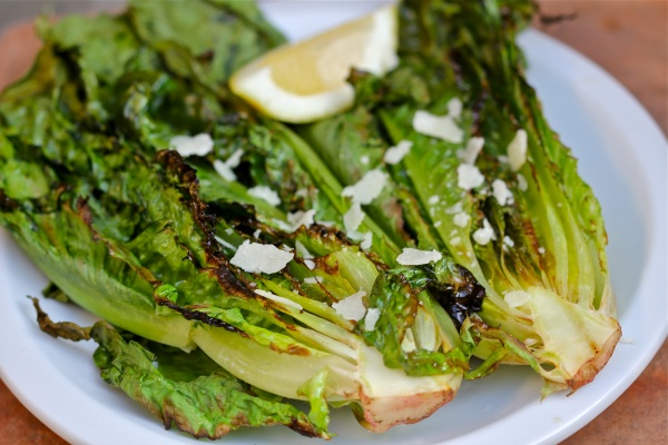 Grilled Romaine Salad Recipe 6) salad in a cone