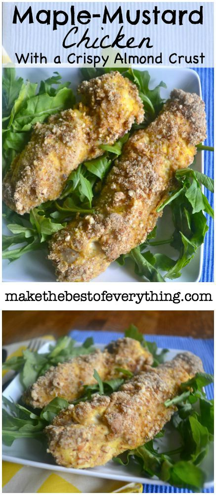 Maple Mustard Chicken with an Almond Crust