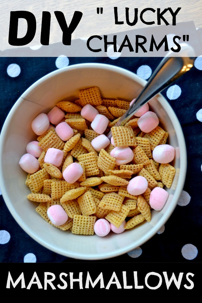 Diy lucky charms marshmallows this is a fun way to enjoy marshmallows in your cereal without all that nasty sugar cereal that comes with it we used chex i bet these marshmallows would ccuart Images
