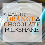 Healthy Orange Chocolate Shake