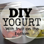 DIY Yogurt with fruit on the bottom
