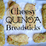 "Cheesy Quinoa ""Breadsticks"""