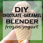 Chocolate-Caramel Blender Frozen Yogurt