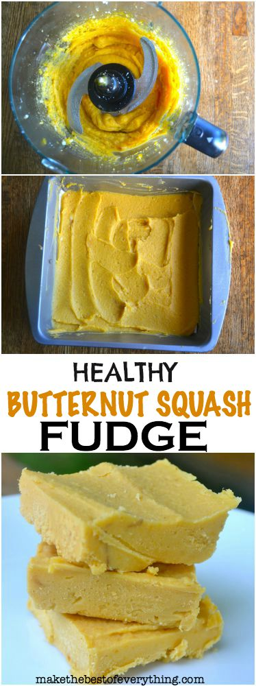 Three Ingredient Butternut Squash Fudge