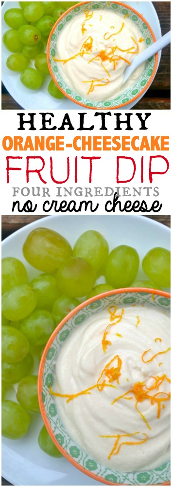Healthy 4 Ingredient Orange Cheesecake Dip