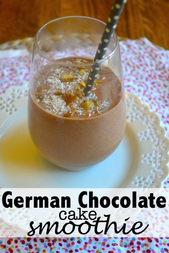 German Chocolate Cake Healthy Smoothie