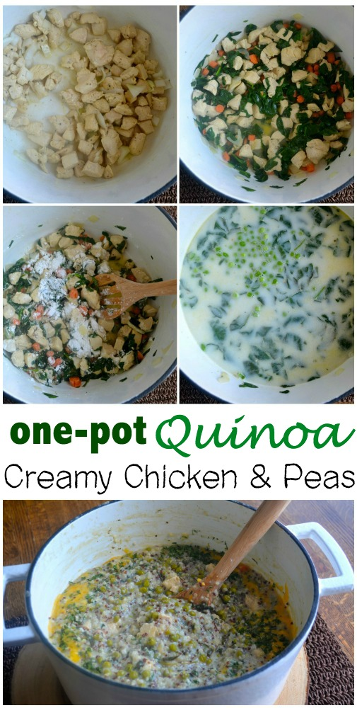 One Pot Creamy Chicken peas