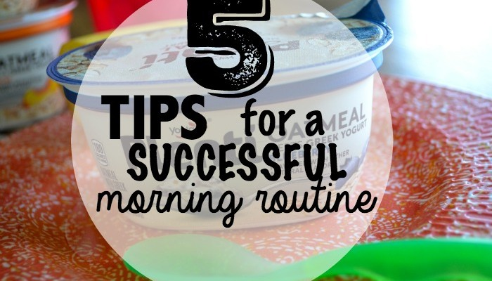 5 tips for a successful morning routine- with toddlers