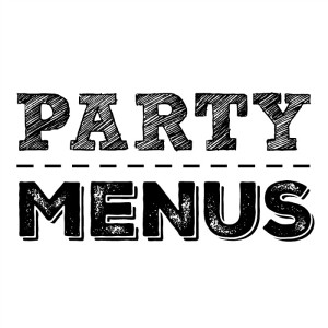 Party menus