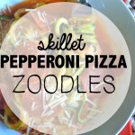 Skillet Pepperoni Pizza Zoodles