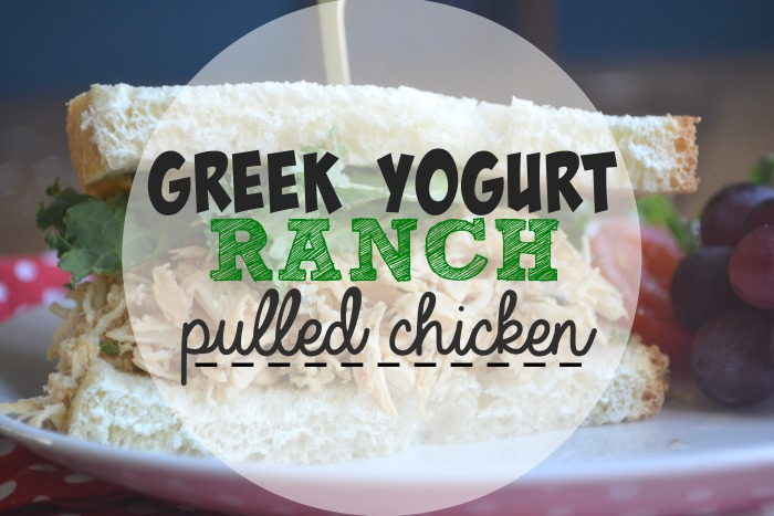 Slow Cooker Greek Yogurt Ranch Pulled Chicken