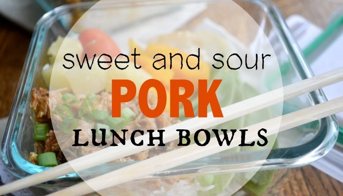 Sweet and Sour Pork Lunch Bowls- Insta Pot Recipe