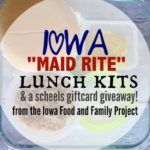 Healthier Iowa Maid Rite Lunch Kits & A Scheels Gift Card Giveaway from Live Healthy Iowa!
