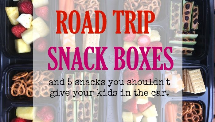 Road Trip Snack Boxes- And Preparing Your Car For Summer Travel