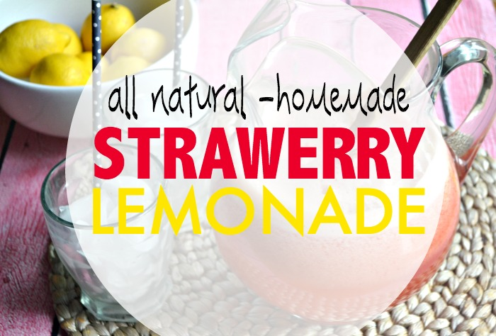 All Natural Blender Strawberry Lemonade