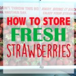 How to Store Fresh Strawberries & Video Tutorial