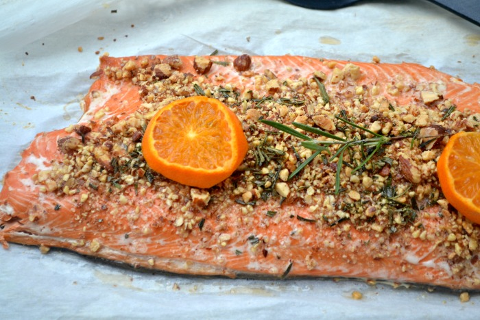 Rosemary-Almond Crusted Salmon and getting vitamin D