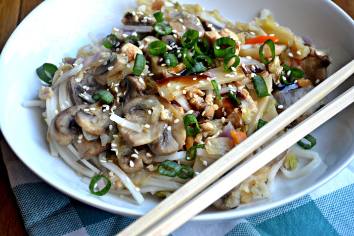 Moo Shu Chicken Noodle Bowls- Instant Pot Recipe