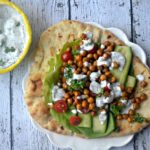 Chickpea gyros with dairy-free Tzatziki sauce