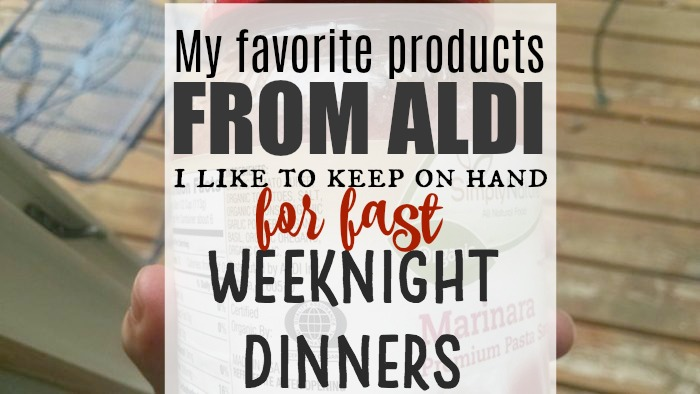 Items from Aldi for fast weeknight meals