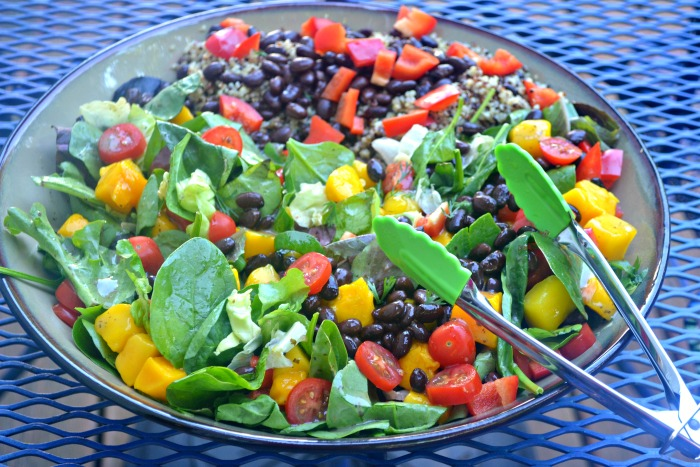 Mango-Black Bean Quinoa Salad with Lime Dressing