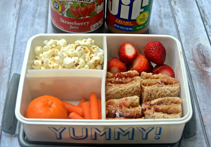 Triple Decker Peanut Butter and Jelly Bento Box