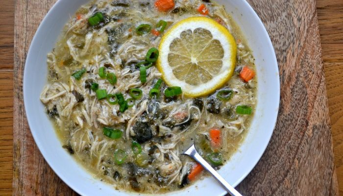 Lemony Chicken Florentine Soup with Quinoa