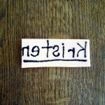 Puffy Paint Name Stamp