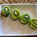 Kiwi Frozen Yogurt Sandwiches