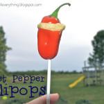 Sweet Pepper Lollipops