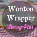 Wonton Wrapper Berry Pies