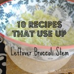 Broccoli Stem Parmesan Rice- and 10 uses for Broccoli stems