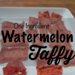 Healthy Watermelon Taffy