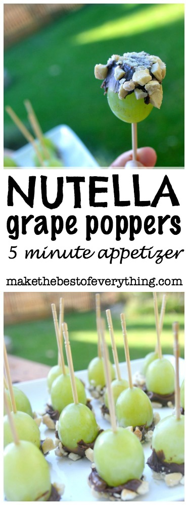Nutellagrapeappetizer