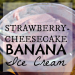 Strawberry-Cheesecake Banana Soft Serve