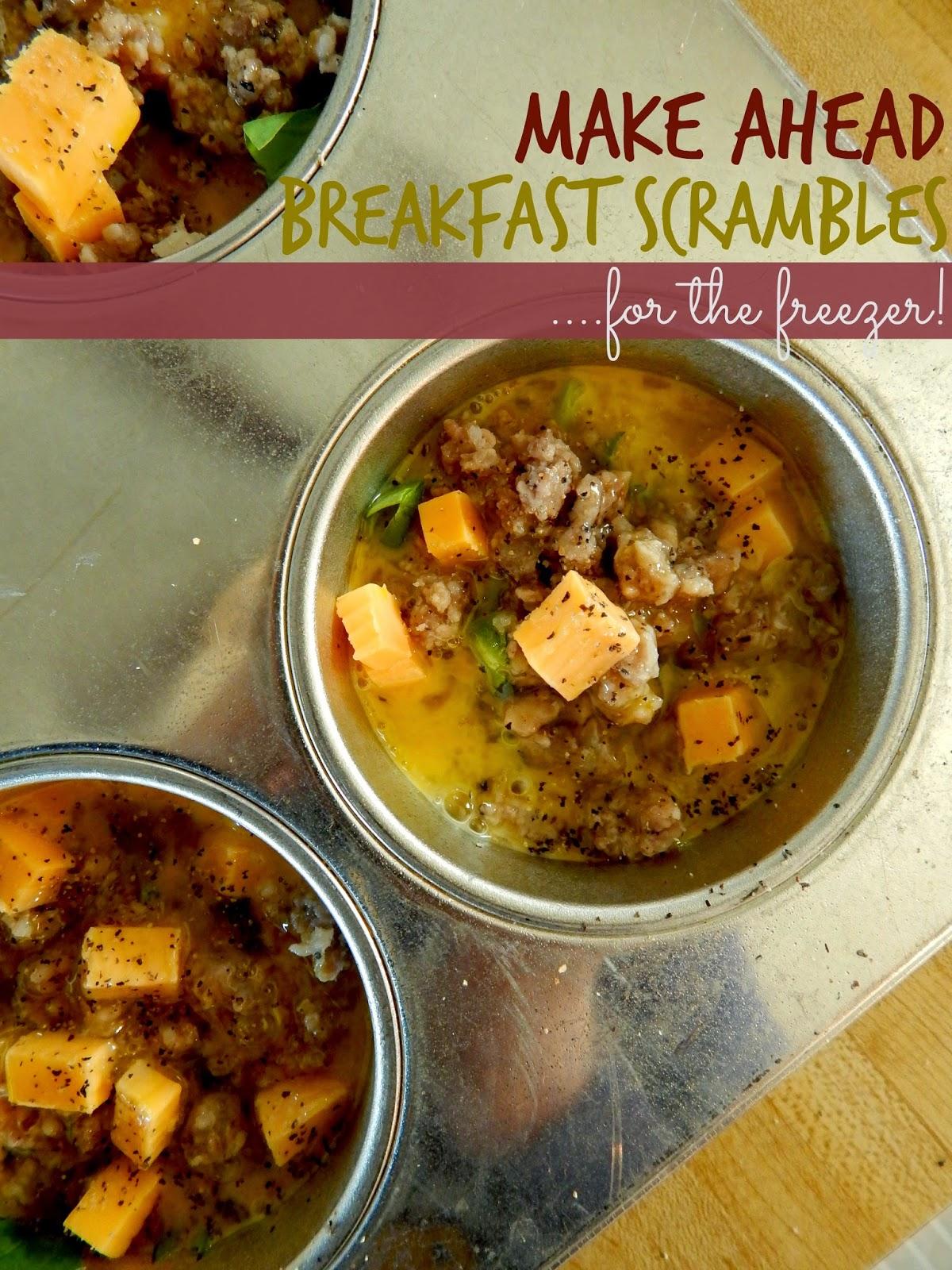 make ahead breakfast scrambles for the freezer