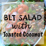 Bacon-Lettuce-Tomato Salad with Toasted Coconut