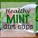 Healthy Mint Dirt Cup- And summer picnics with my kids