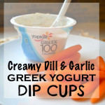 Greek Yogurt Garlic Dill Dip- for One