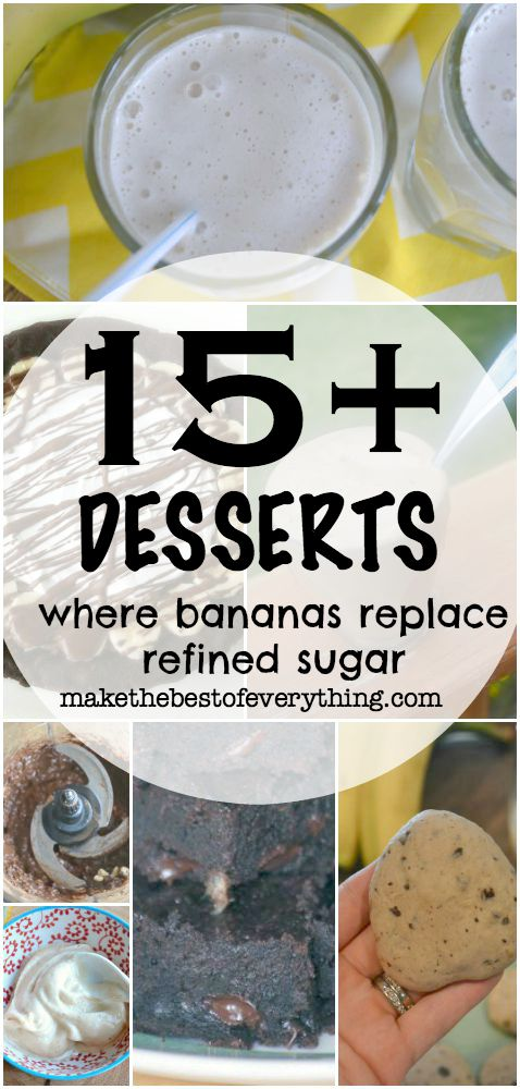 Desserts where Bananas replace sugar