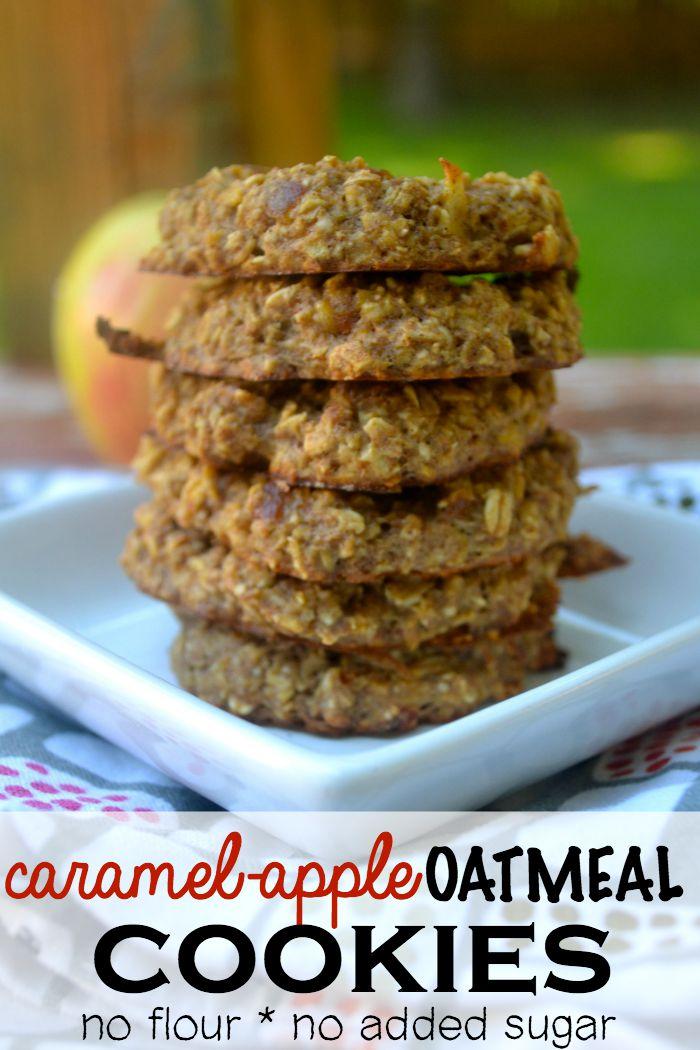 Flourless Caramel Apple Oatmeal Cookie