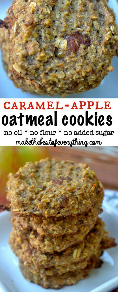 Flourless Caramel Apple Oatmeal Cookies