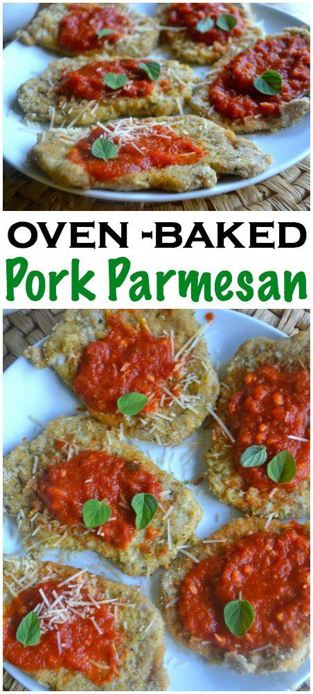 Oven Baked Pork Parmesan