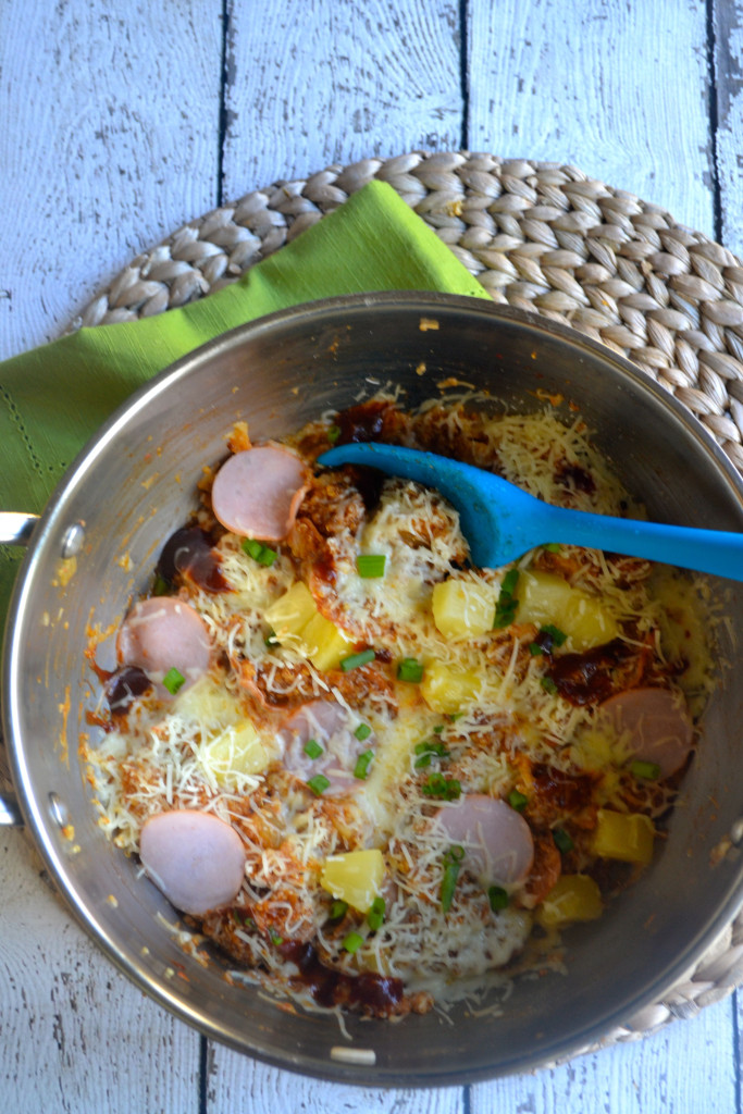 BBQ Hawaiian Pizza Quinoa Skillet