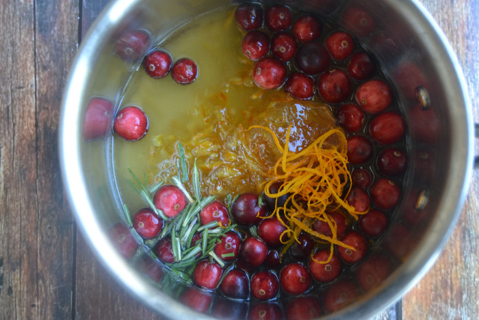 Cranberry Orange Rosemary glaze