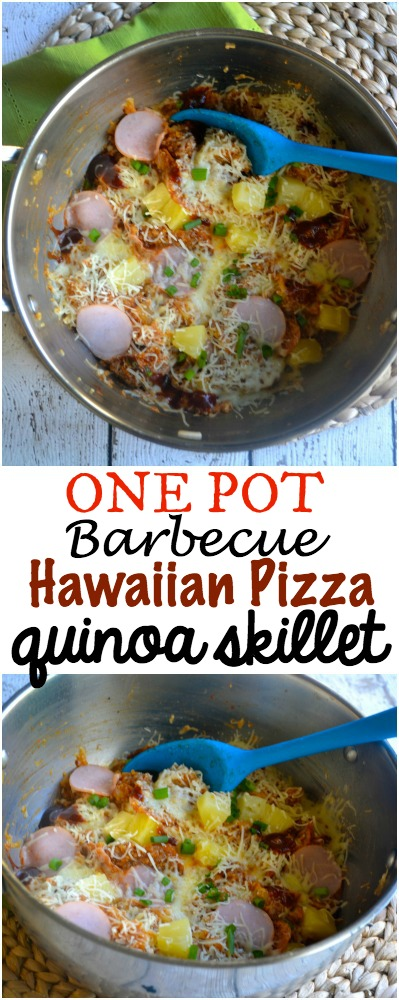 Hawaiian Pizza Quinoa Skillet